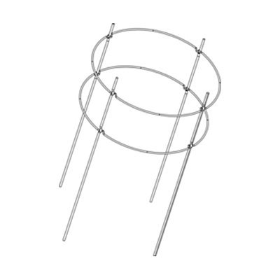 EZ Grow Folding Plant Cage - 2 Rings, 4 Legs