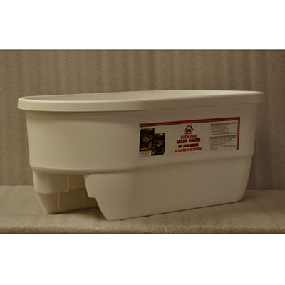 Deck Dual Rail Planter - White