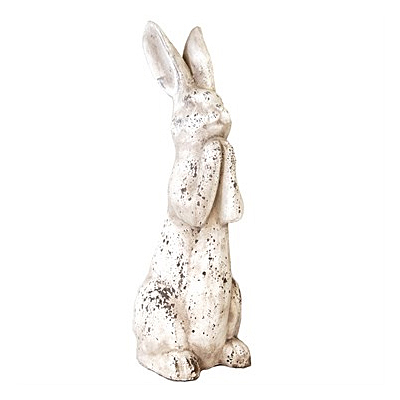 MC Rabbit Praying Antique - White