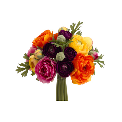 Ranunculus Bouquet - Purple/Orange