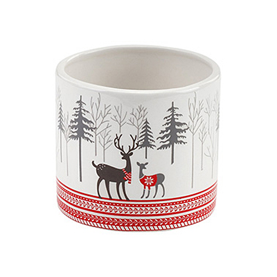 Planter - Reindeer Decal