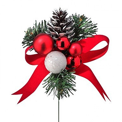 Pick - Mixed Ball/Cone/Ribbon Red/White