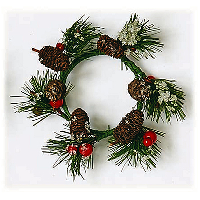 Candle Ring - Pine Iced , Cone, Berry