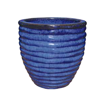 Ripple Egg Pot - Blue