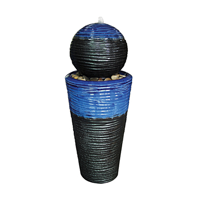 Fountain - Ripple Cone with Ball Tall Tapered