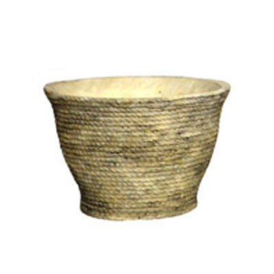 Planter - Antique Rope Weave Cement