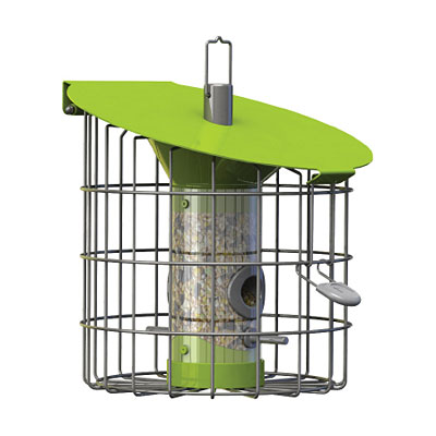 Nuttery Roundhaus Compact Bird Feeder - Lime Green