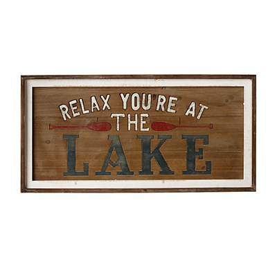 Sign - Relax You're At The Lake
