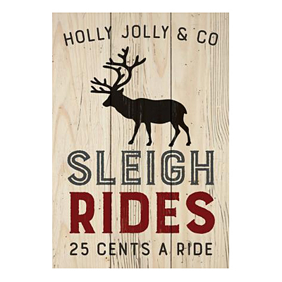 Small Sign - Sleigh Rides