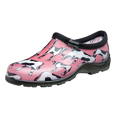 Sloggers Garden Shoe - Cow Pink