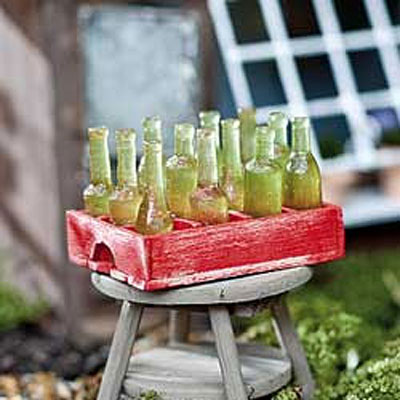Mini Soda Crate & Bottles