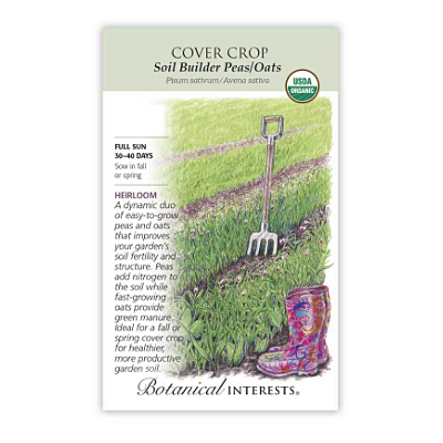 Seeds - BI Cover Crop Soil Builder Pea/Oat Org