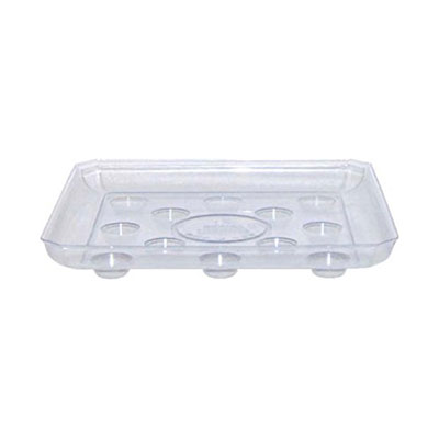 Square Saucer Clear Heavy Duty