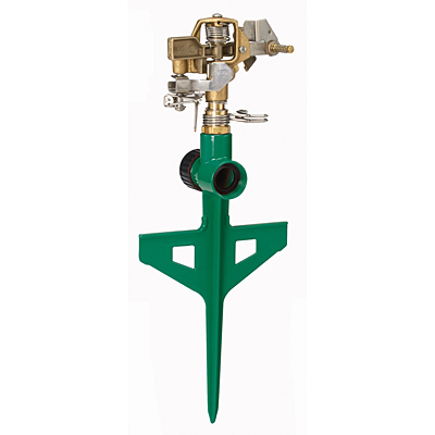 Dramm Stake Impulse Sprinkler - Green