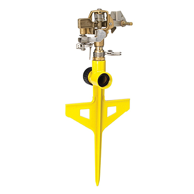 Dramm Stake Impulse Sprinkler - Yellow