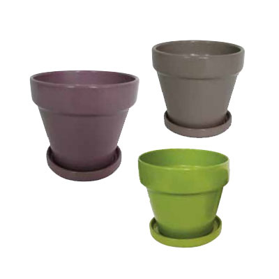 Standard Pot with Attached Saucer - Assorted