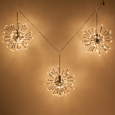 Starburst Lighted Branches Brown/WW - Set of 3