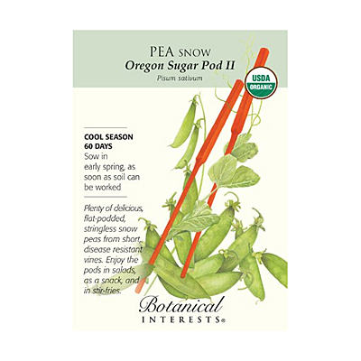 Seeds - BI Pea Snow Oregon Sugar Pod Org
