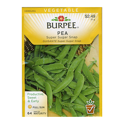 Seeds - Pea, Snap 'Super Sugar Snap'
