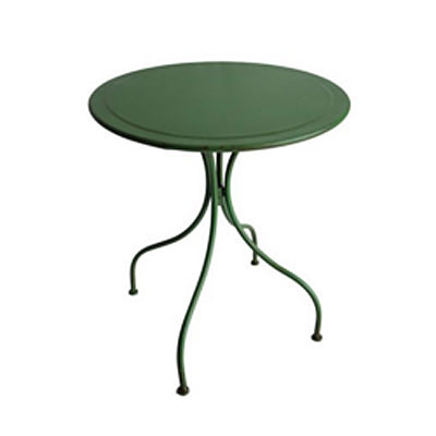 Table - Round Vintage Metal Green