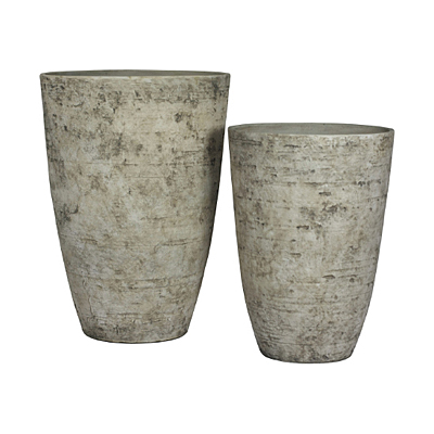 Listo Tahoe Tall Birch Pot - White