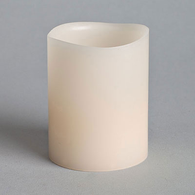 LED Votive Candle - Wax with Timer Bisque