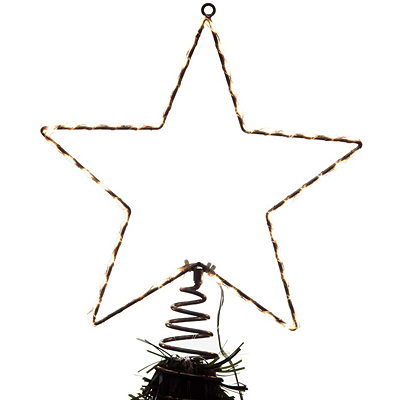 Tree Topper - Metal Lighted LED Star