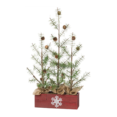 Tree x3/Box - Red