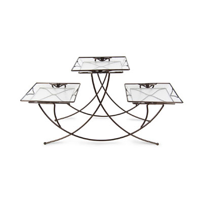 Plant Stand - Triple Square Bronze
