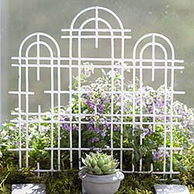 Mini Triple Trellis - White