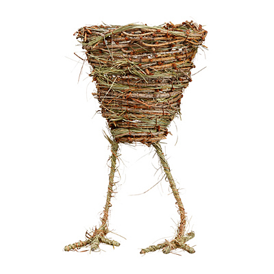 Twig Grass Egg Container with Feet