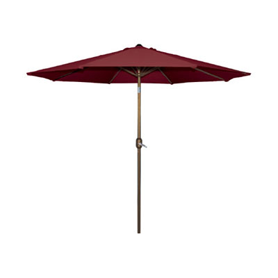 Umbrella - Steel Market Burgundy
