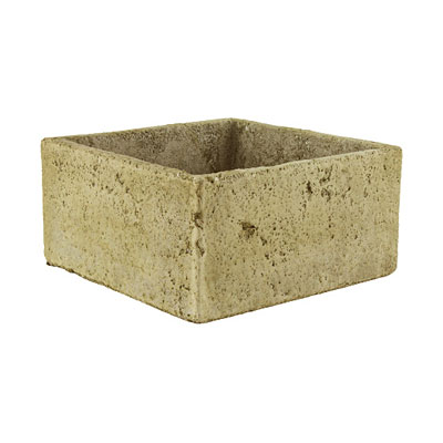 Square Cement Pot - Weathered Slate