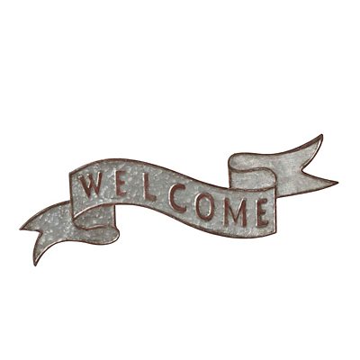 Sign - Galvanized Welcome Banner