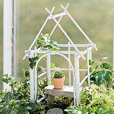 Mini Wildewood Gazebo - White