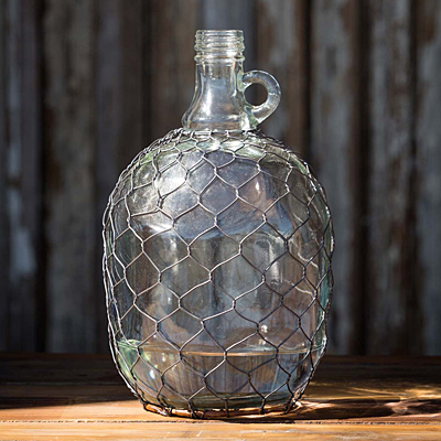 Wine Jug with Poultry Wire