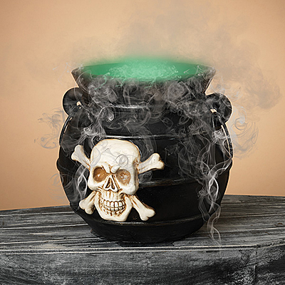 Electric Lighted Witches Cauldron