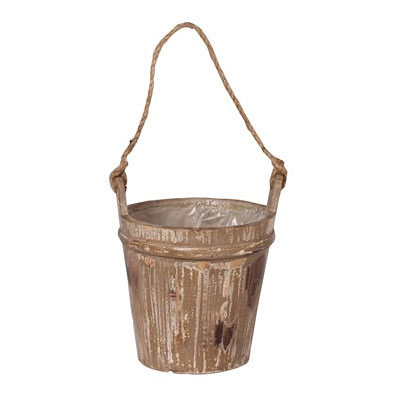 Rustic Barn Wood Bucket