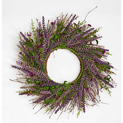 Wreath - Lavender & Small Flower Twig