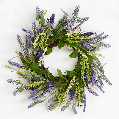 Wreath - Lavender with Leaves, Twig Base