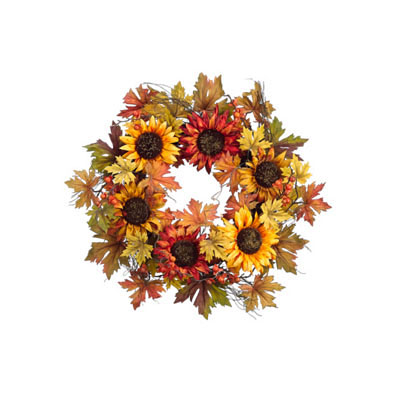 Wreath - Sunflower, Maple Leaf, Berry