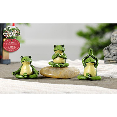 Mini World Zen Garden Yoga Frog Figurine